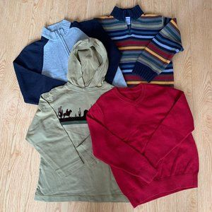 Boys Sweaters Knit Hoodies Size 7 Zip Up Comfy